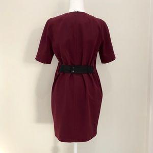 Victoria Victoria Beckham burgundy dress